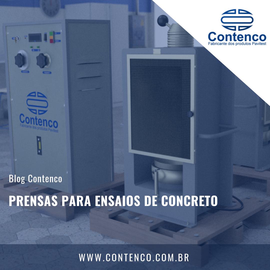 prensas para ensaios de concreto
