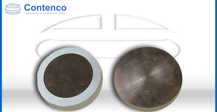pratos de aço para ensaio em concreto